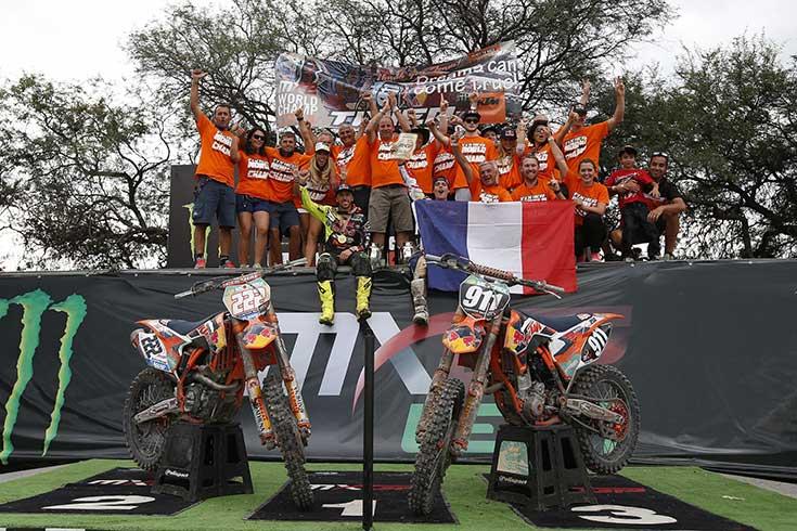 Οι Εργοστασιακές Ομάδες Red Bull KTM είναι Παγκόσμιοι Πρωταθλητές 2014 MX με τους Jordi Tixier (MX2) & Tony Cairoli (MXGP)