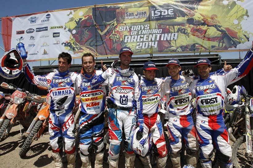 Η Ομάδα της Γαλλίας νικητής του ISDE 2014 της Αργεντινής